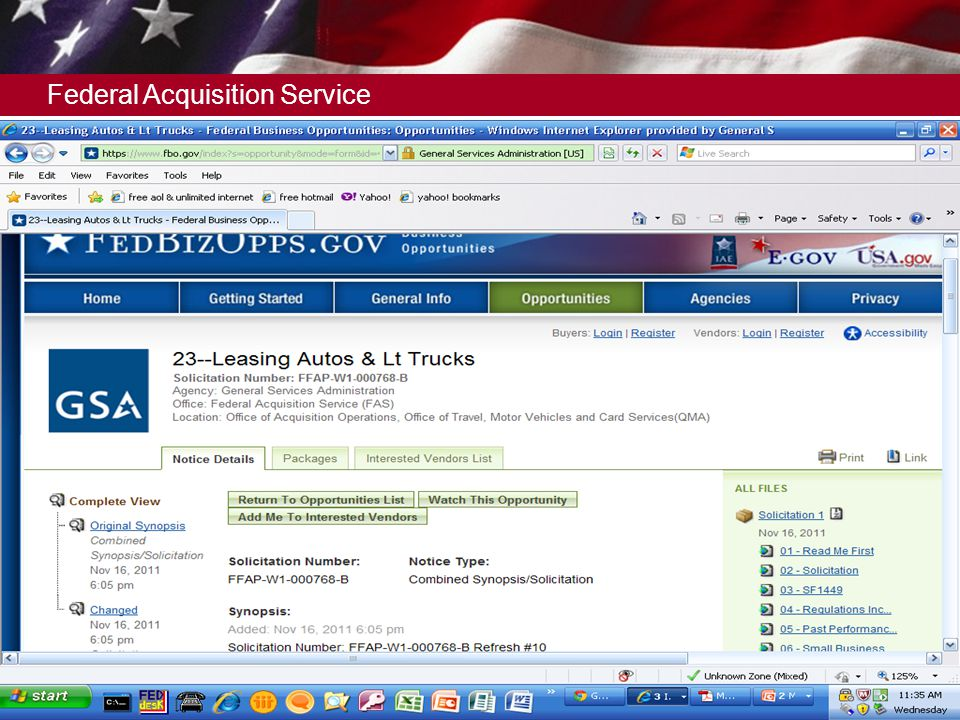 Federal Acquisition Service 16