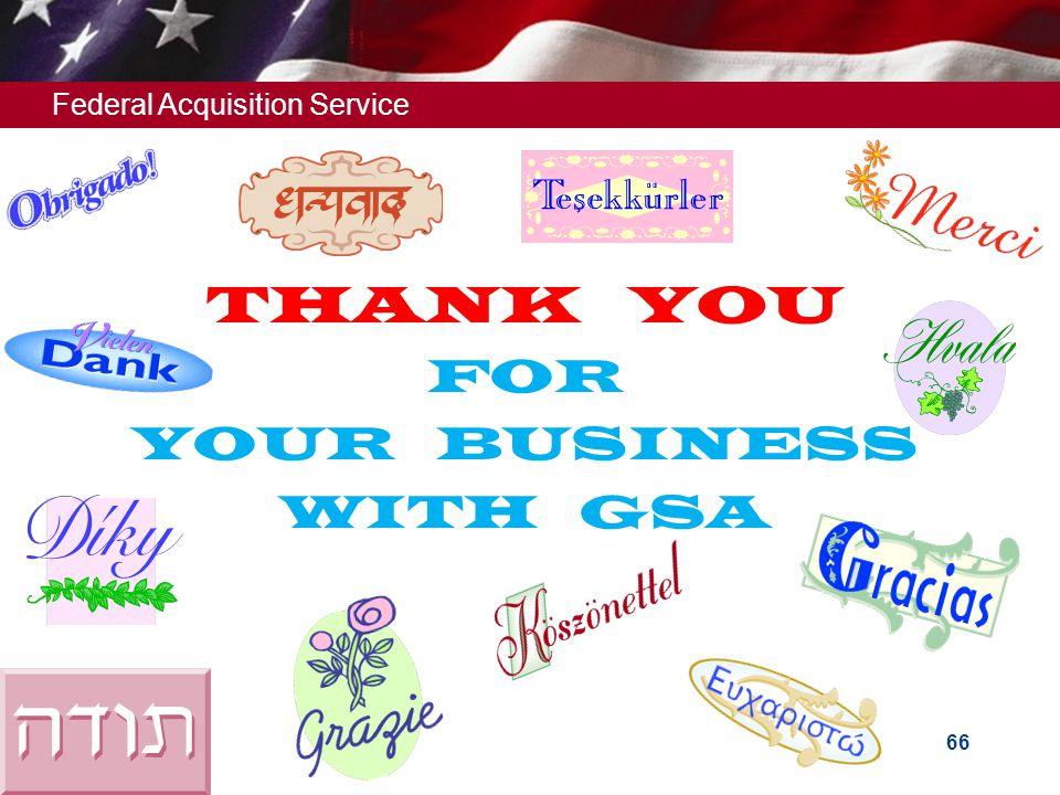 Federal Acquisition Service 65 Helpful Websites (Cont') 72A Quarterly Reporting System: https://72a.gsa.govhttps://72a.gsa.gov Veterans' Employment &