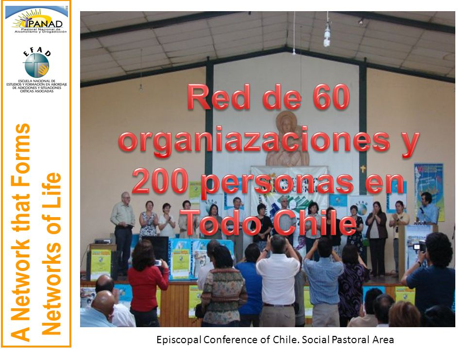 A Network that Forms Networks of Life Episcopal Conference of Chile. Social Pastoral Area
