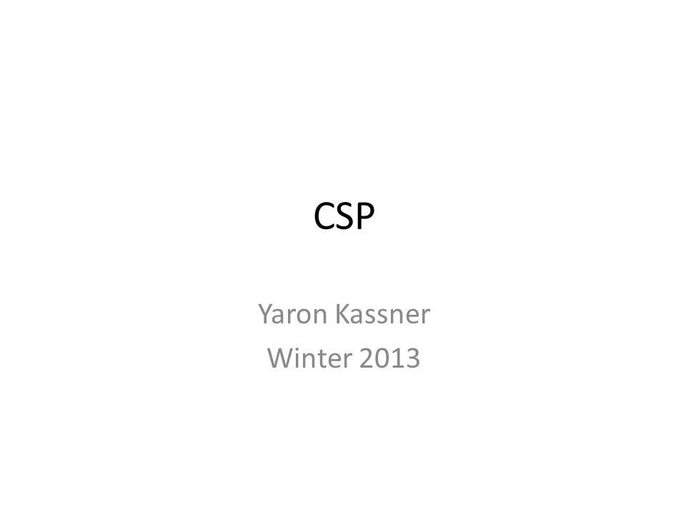 CSP Yaron Kassner Winter 2013