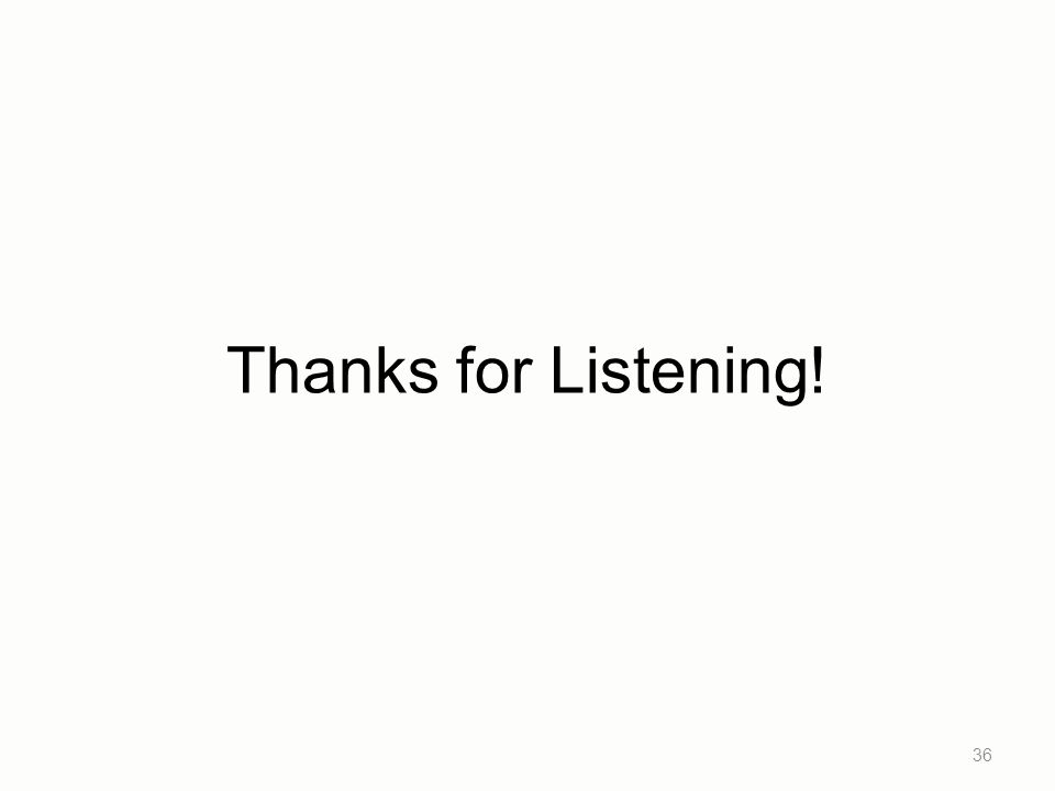 Thanks for Listening! 36