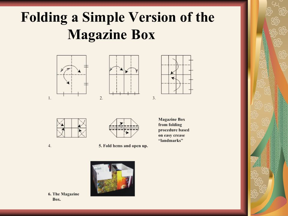 Folding a Simple Version of the Magazine Box