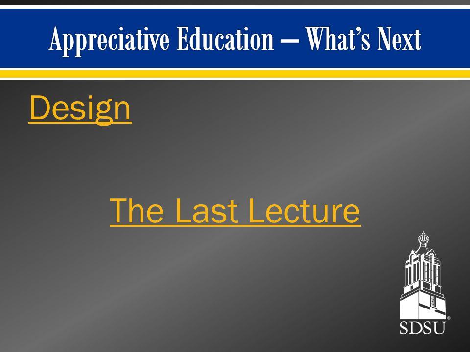 Design The Last Lecture