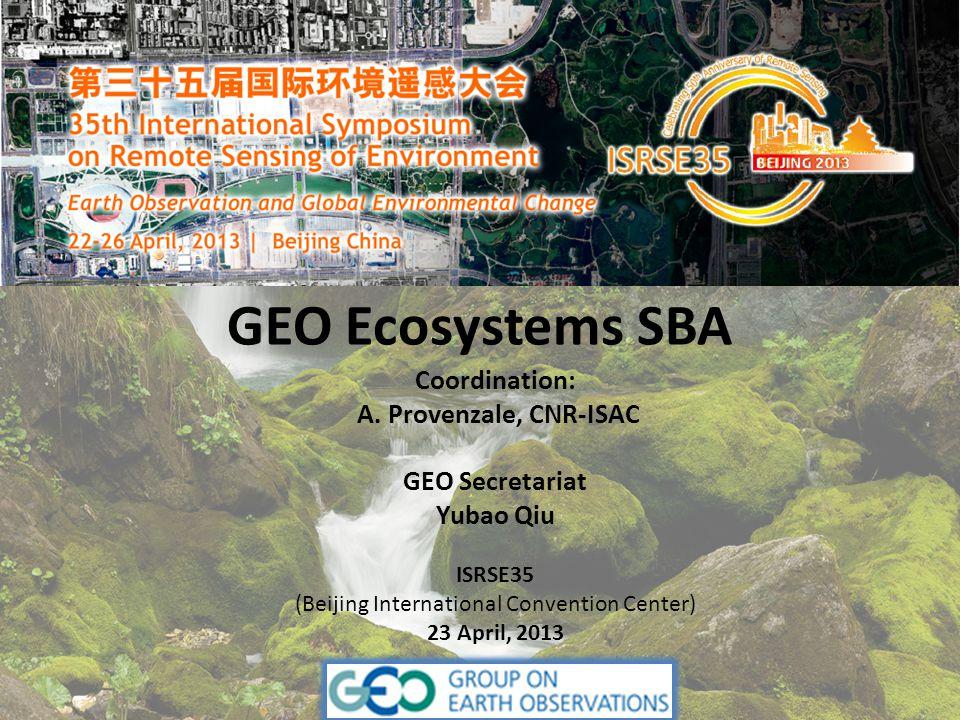 GEO Ecosystems SBA Coordination: A.