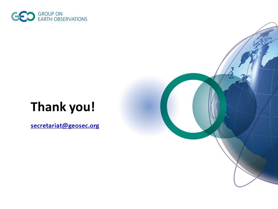 Thank you! secretariat@geosec.org