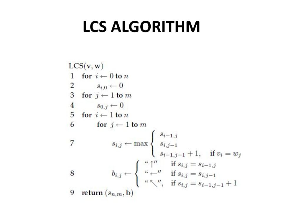 LCS ALGORITHM