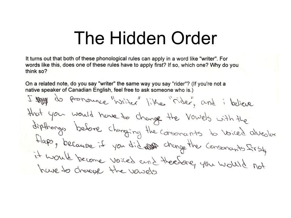 The Hidden Order