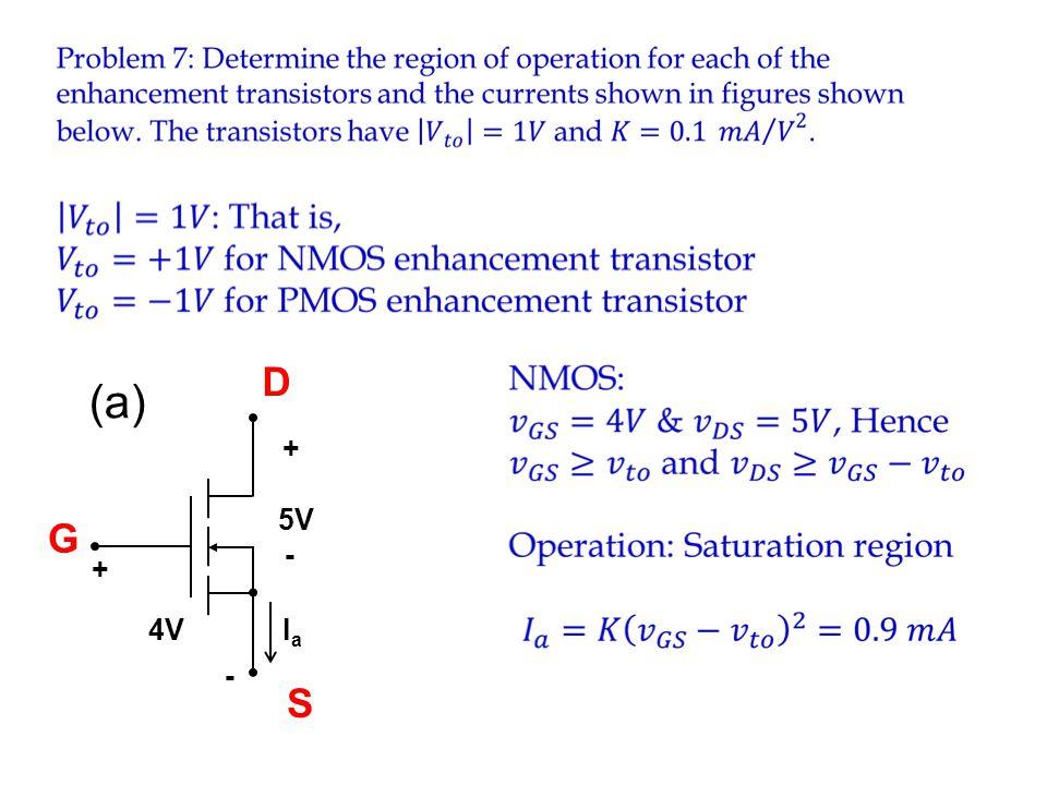 IaIa 4V - + 5V - + (a) S D G