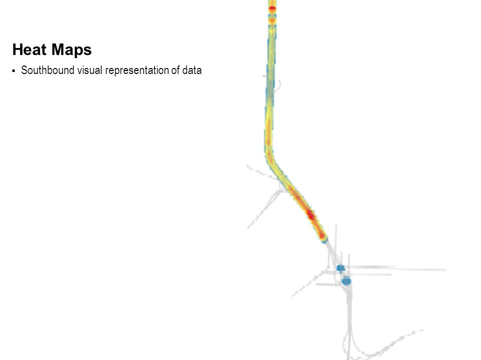  Southbound visual representation of data Heat Maps