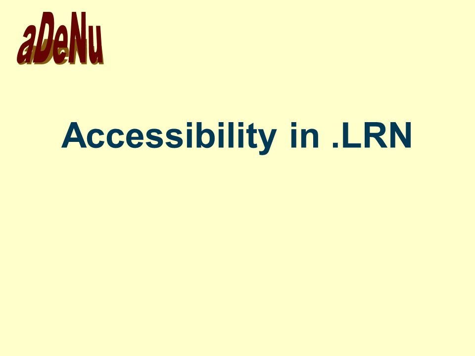 Accessibility in.LRN