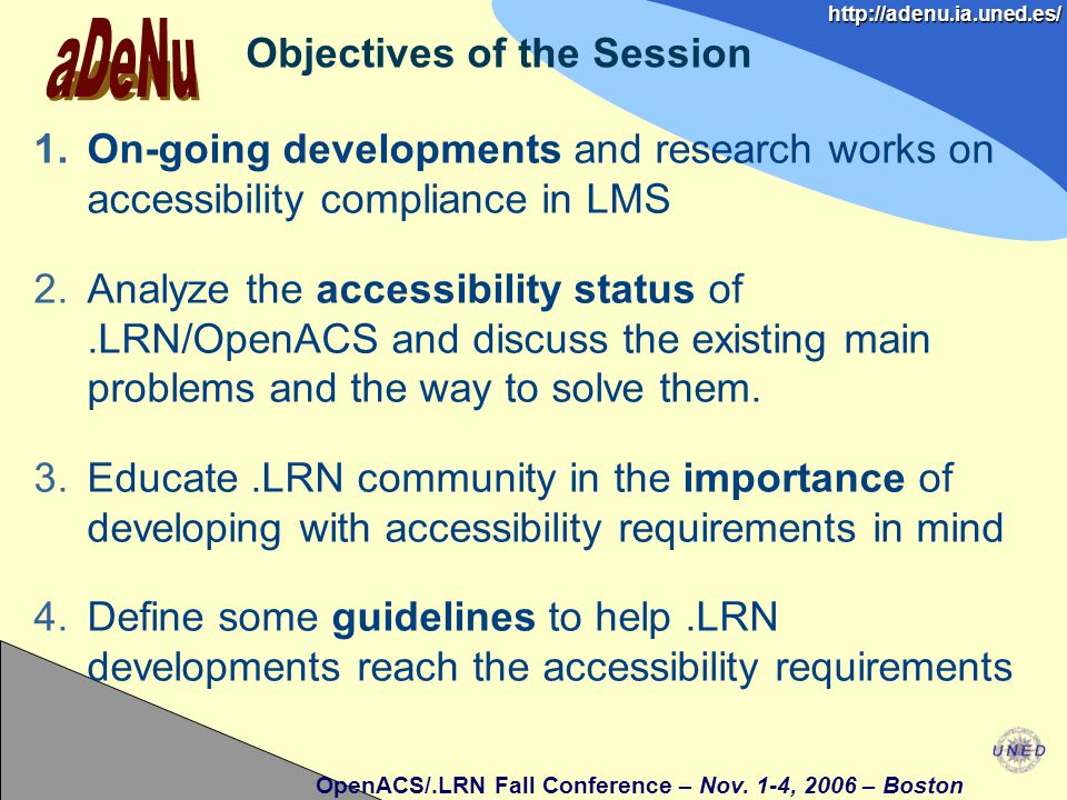OpenACS/.LRN Fall Conference – Nov.