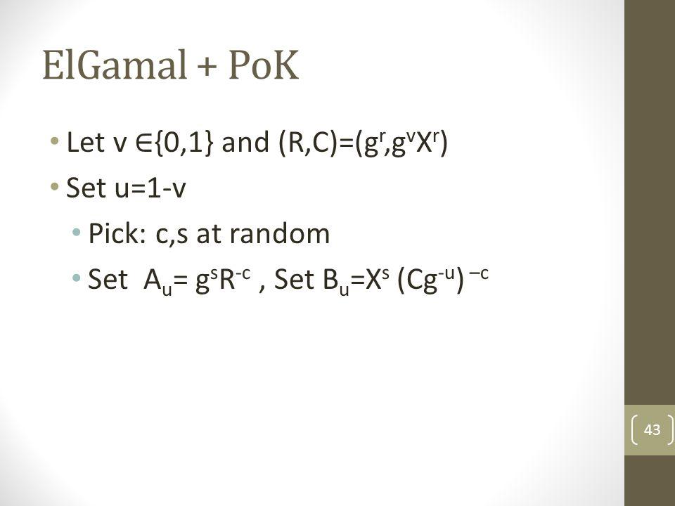 ElGamal + PoK 43
