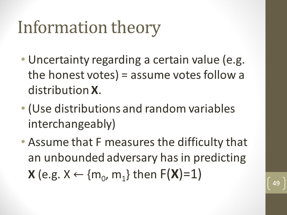 Information theory 49