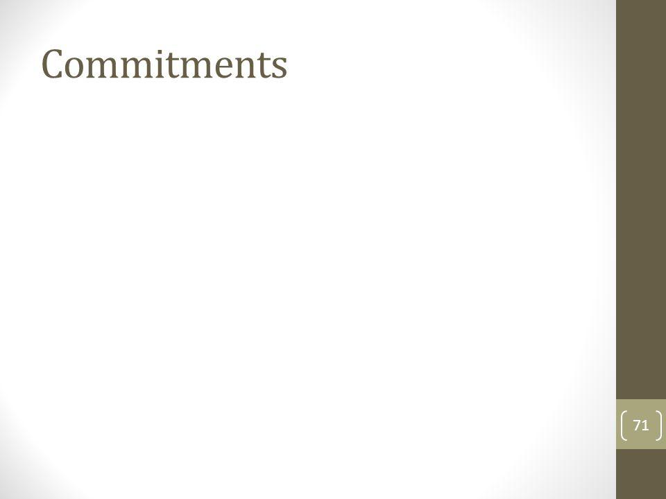 Commitments 71