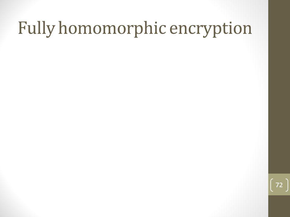 Fully homomorphic encryption 72