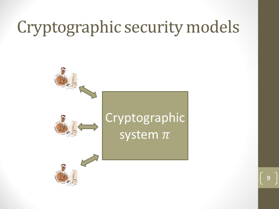 Cryptographic security models 9