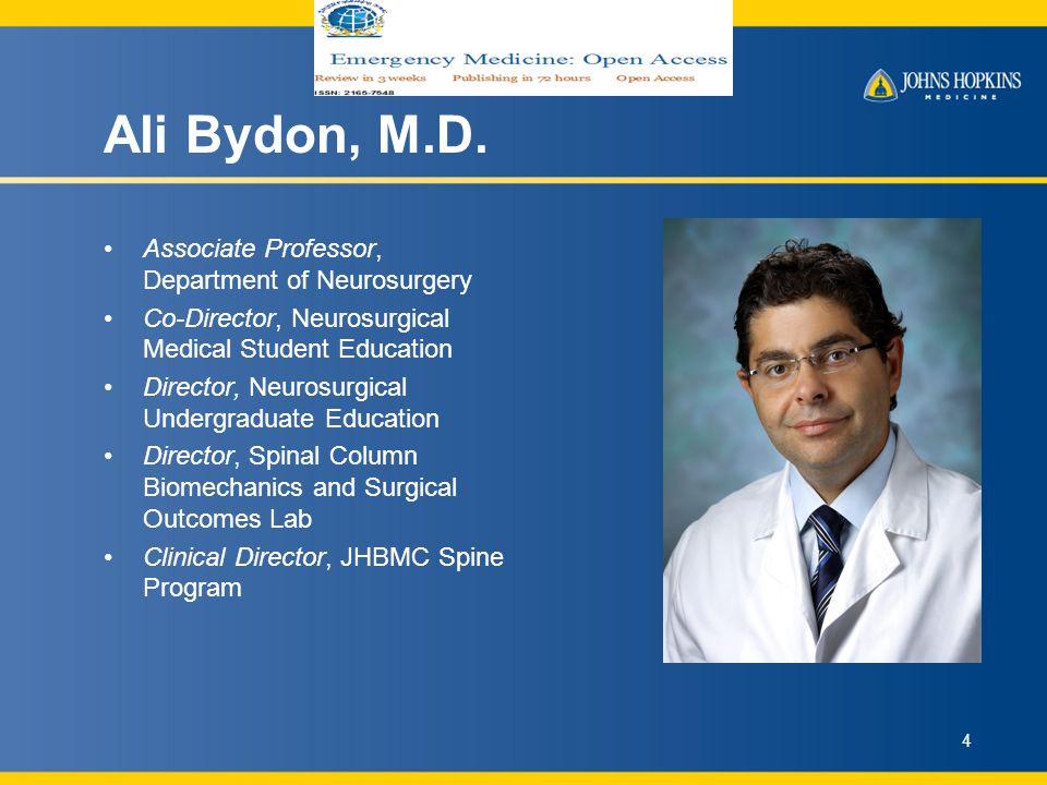 Ali Bydon, M.D.