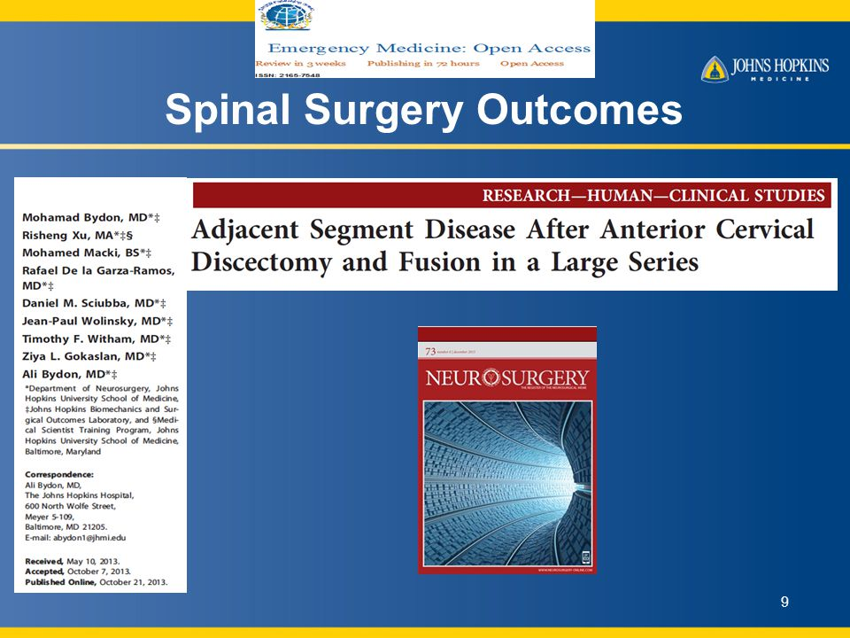 Spinal Surgery Outcomes 9