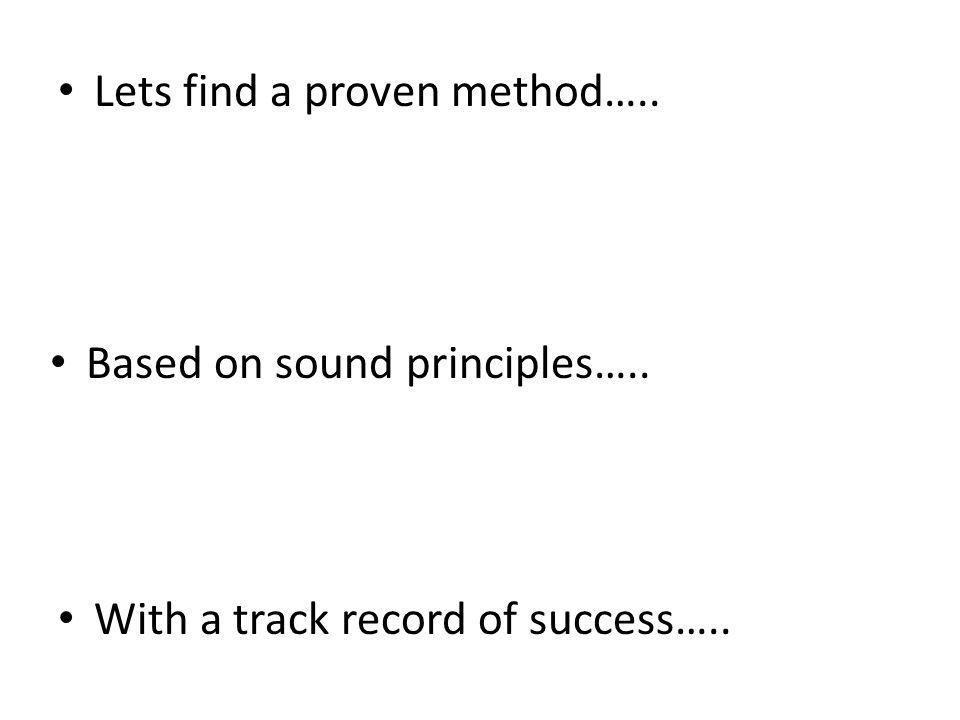 The Scientific Method….