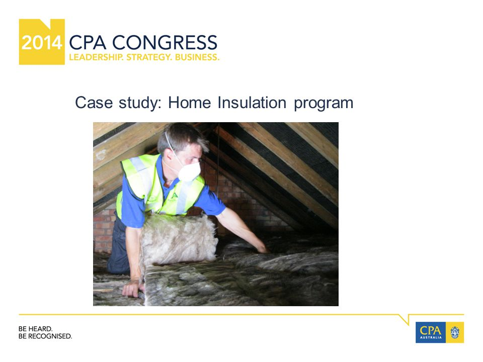Case study: Home Insulation program