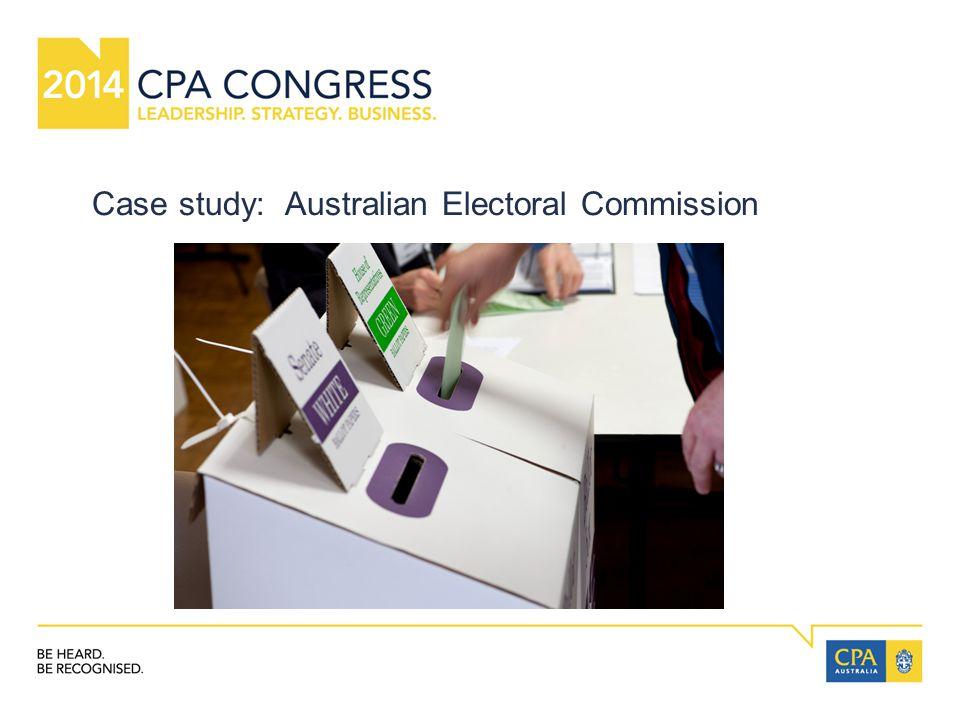 Case study: Australian Electoral Commission