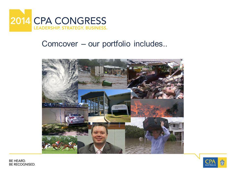 Comcover – our portfolio includes..