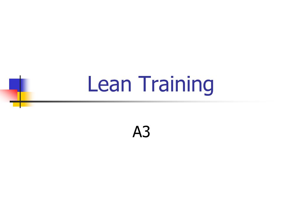 Lean Training A3