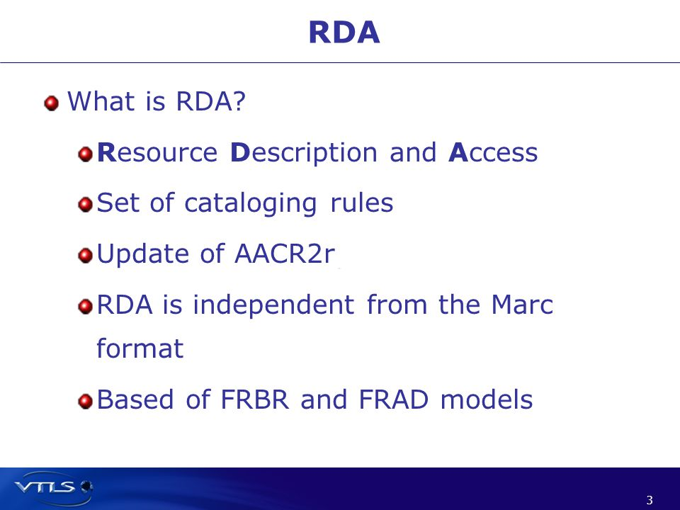 3 3 What is RDA.