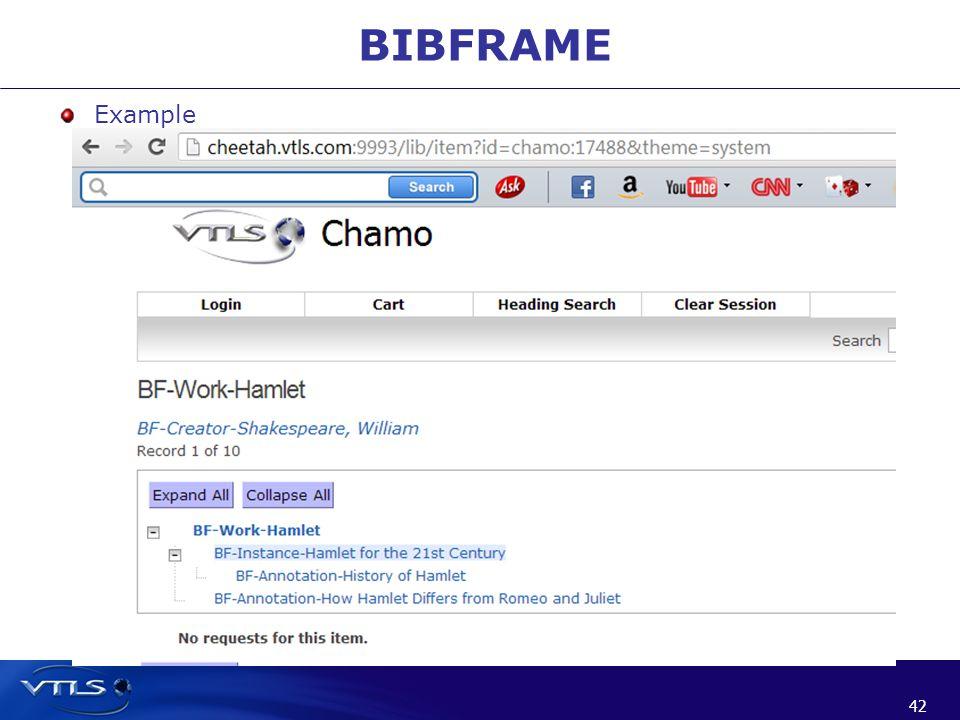 42 BIBFRAME Example