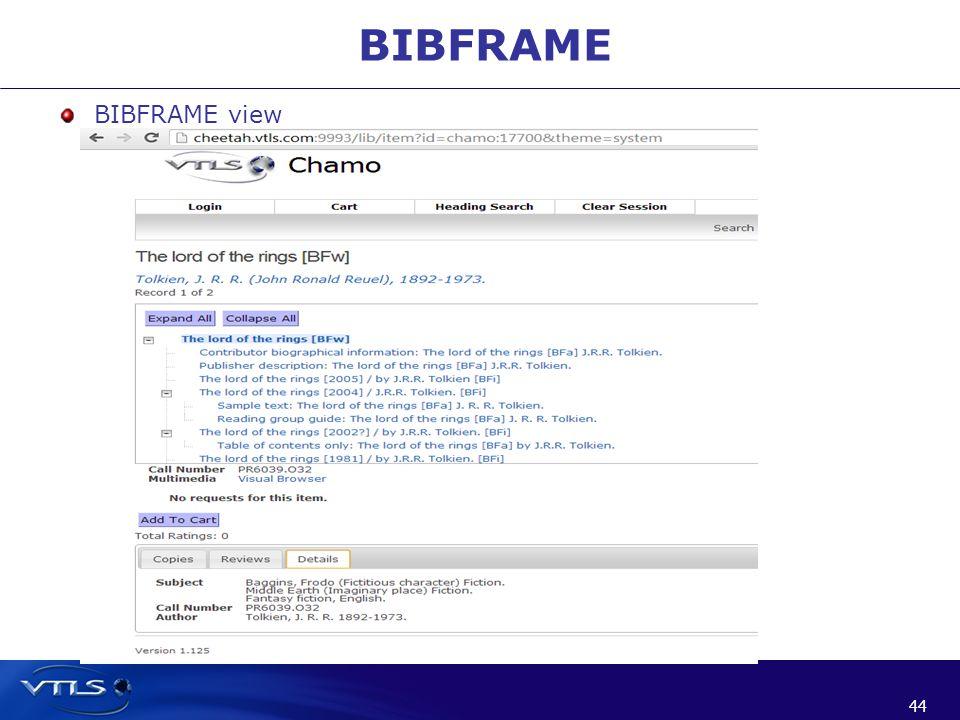 44 BIBFRAME BIBFRAME view