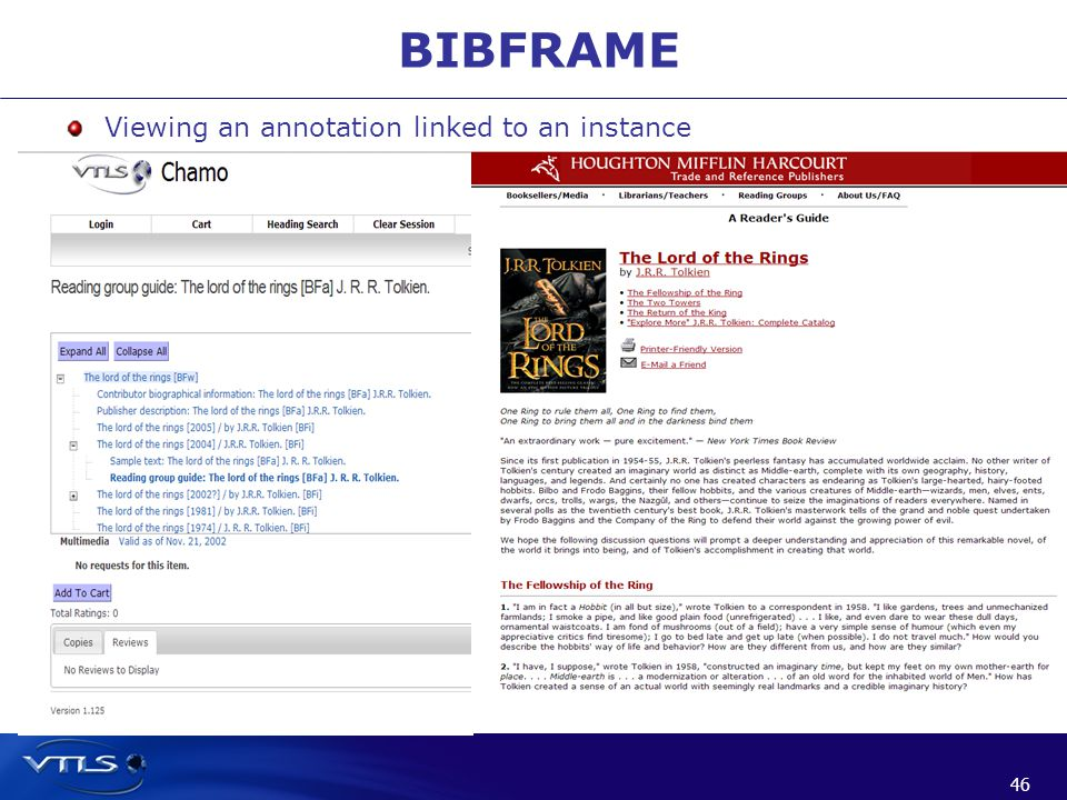 46 BIBFRAME Viewing an annotation linked to an instance