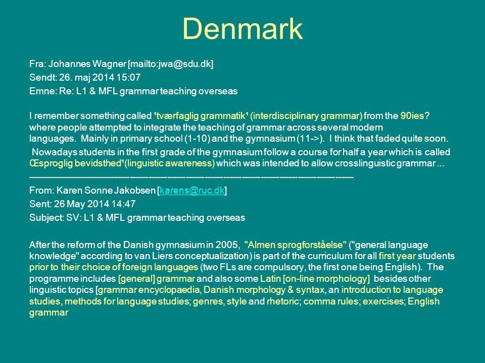 Denmark Fra: Johannes Wagner [mailto:jwa@sdu.dk] Sendt: 26.