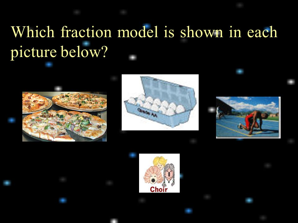 Which fraction model is shown in each picture below?