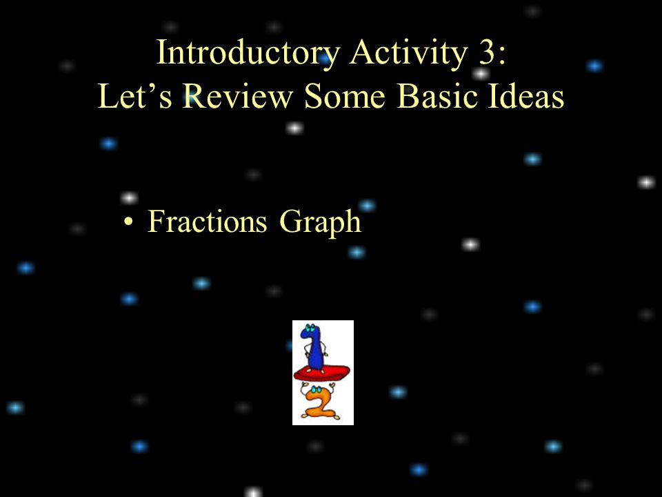 Fractions Graph Introductory Activity 3: Let's Review Some Basic Ideas