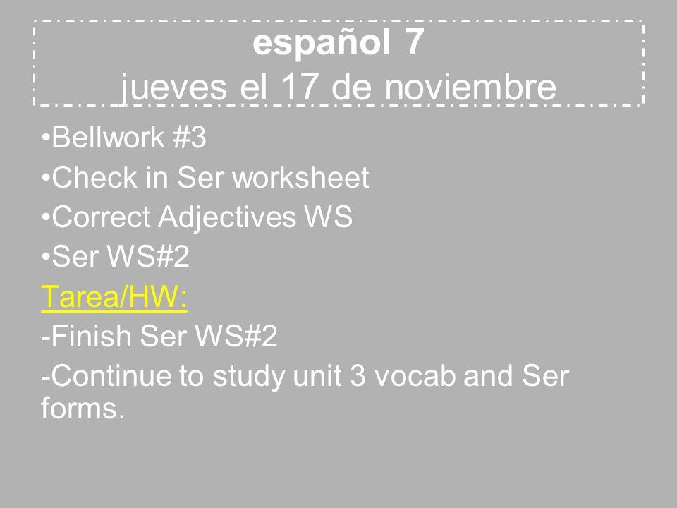 español 8 viernes el 18 de noviembre Cap.