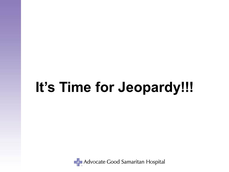 It's Time for Jeopardy!!!