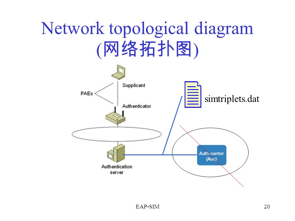 EAP-SIM20 Network topological diagram ( 网络拓扑图 ) simtriplets.dat