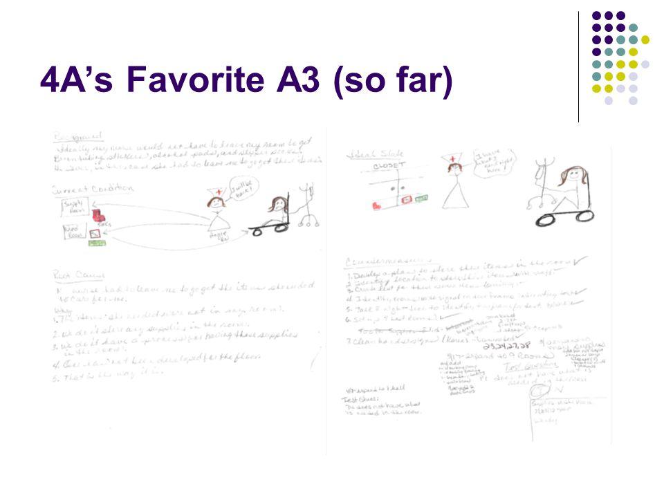 4A's Favorite A3 (so far)