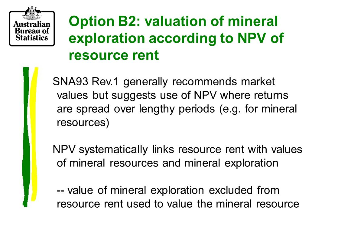 Option B3: mineral exploration 'producing' new discoveries of mineral resources.