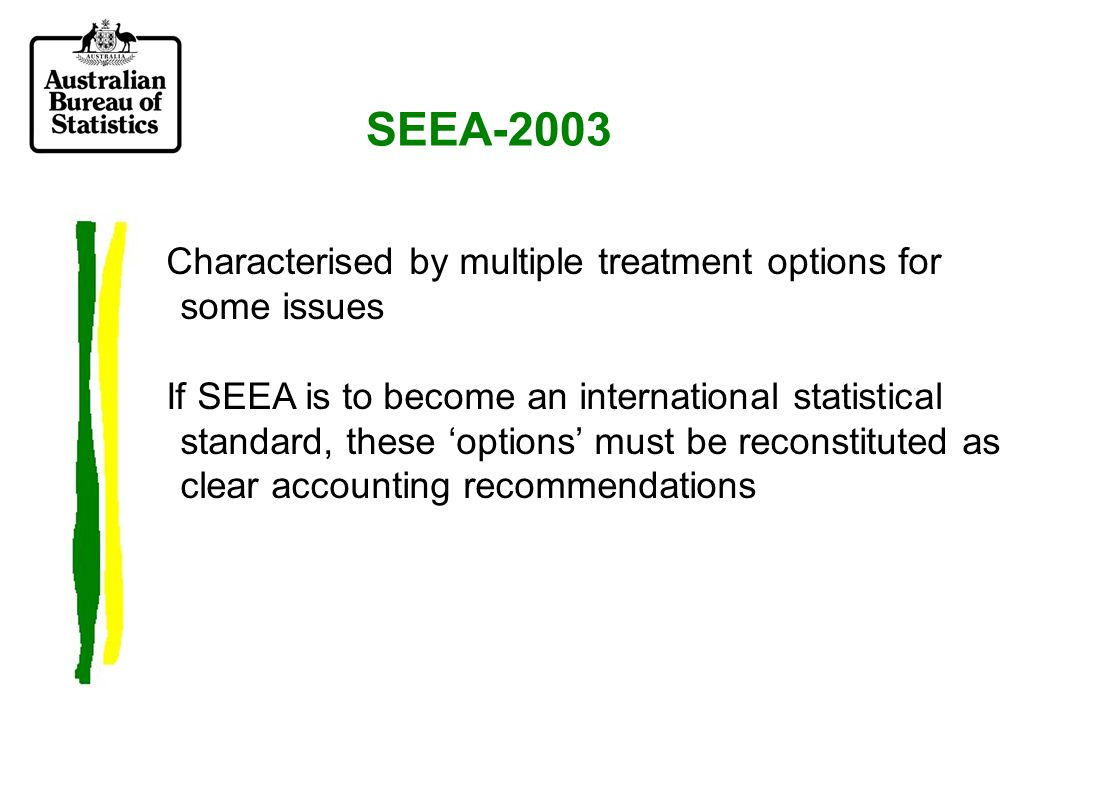 SEEA 2003 Chapter 10: sections Depletion Defensive expenditure Degradation