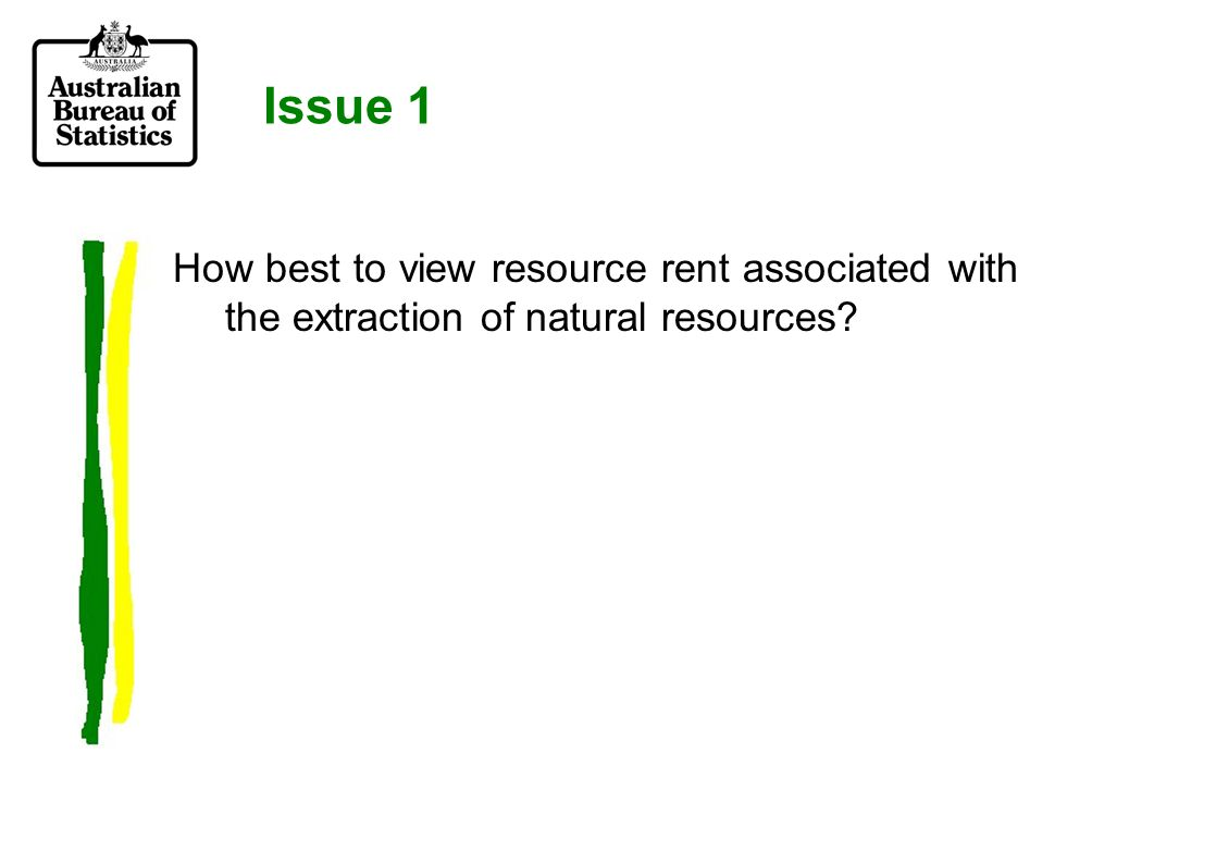 How to define the income element of resource rent.