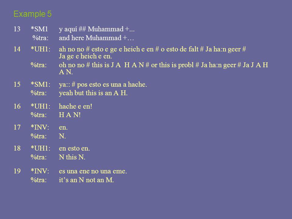 Example 5 13 *SM1 y aquí ## Muhammad +...