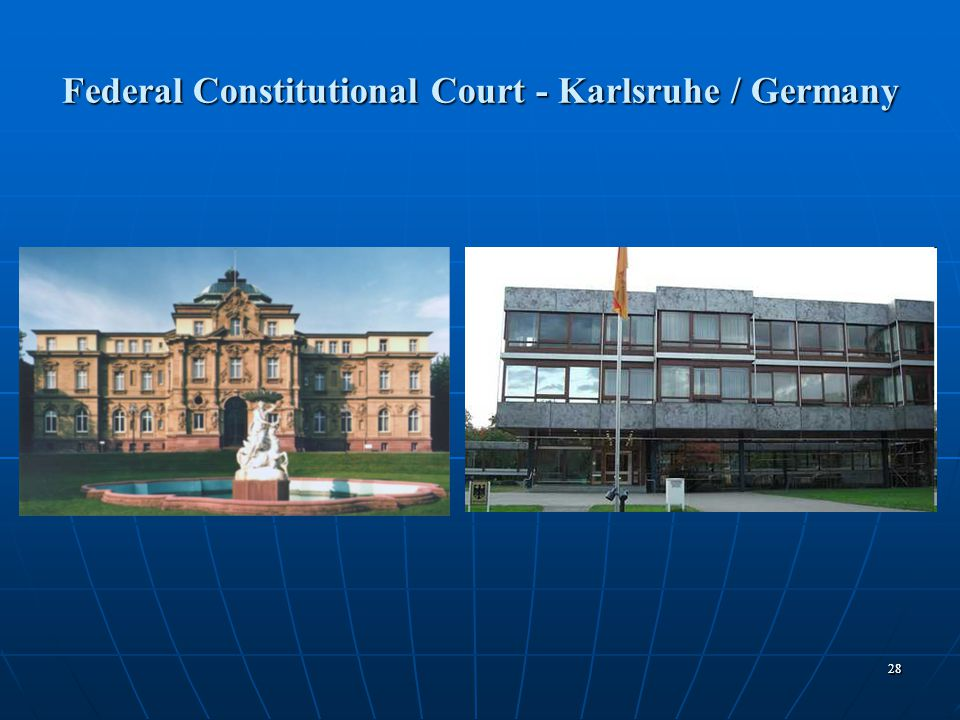 2828 Federal Constitutional Court - Karlsruhe / Germany