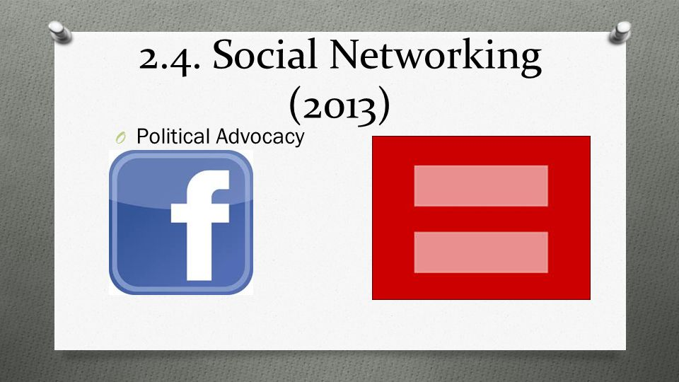 2.4. Social Networking (2013) O Political Advocacy