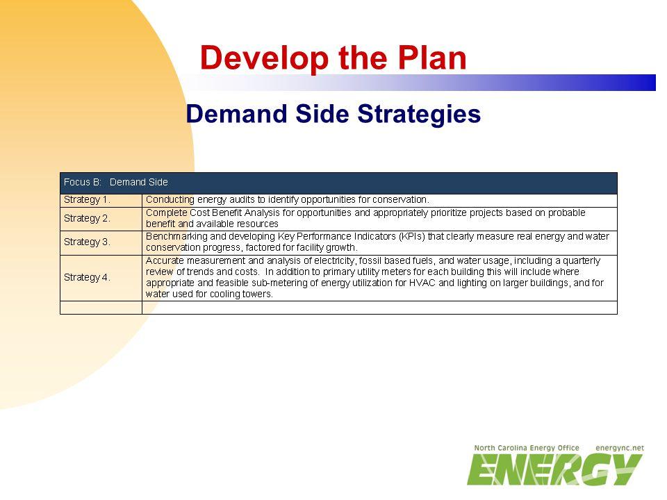Develop the Plan Demand Side Strategies