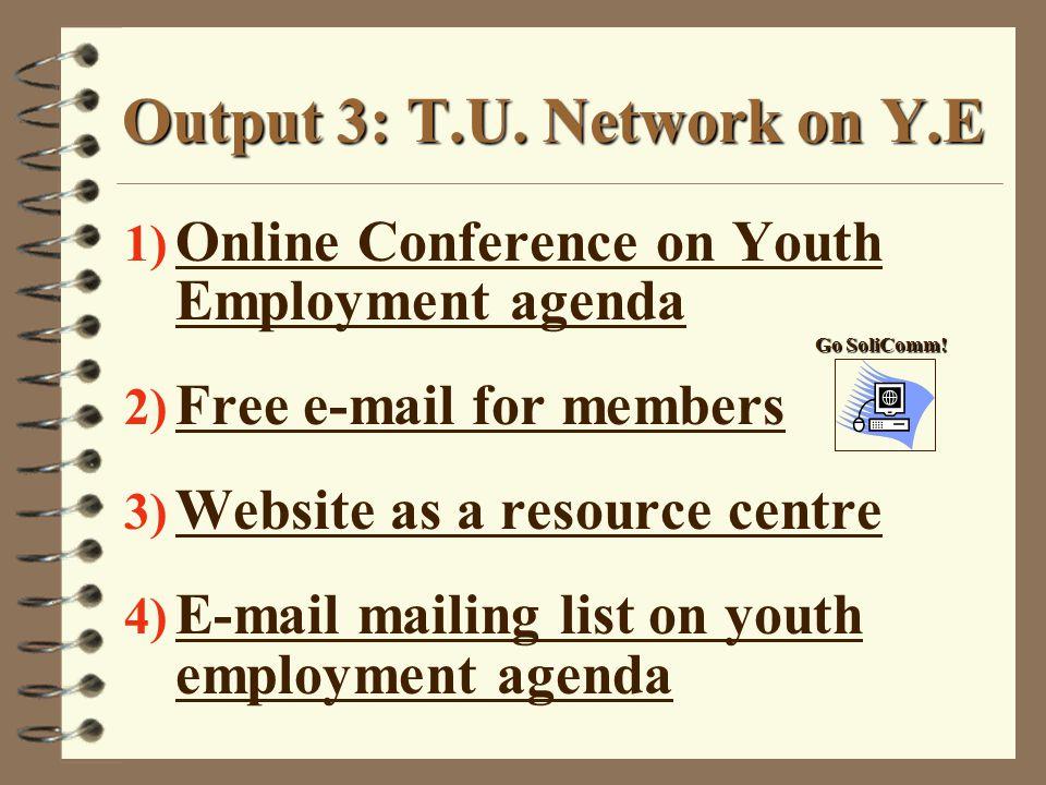 Output 3: T.U.