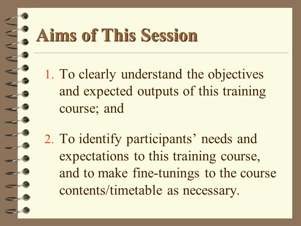 Aims of This Session 1.