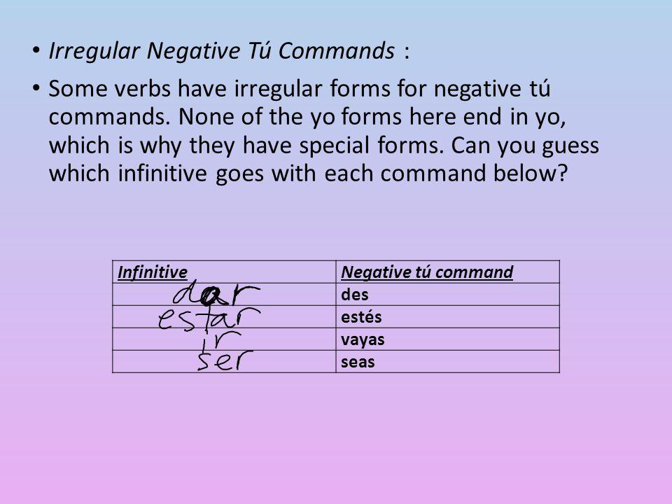 5 irregulars in nosotros commands : EstarEstemos DarDemos SerSeamos SaberSepamos IrVamos (negative is vayamos)
