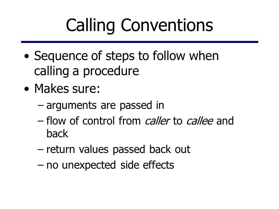 Callee-saved vs.