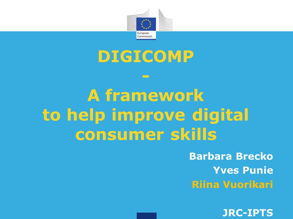 How to apply the framework for consumers' digital competence?